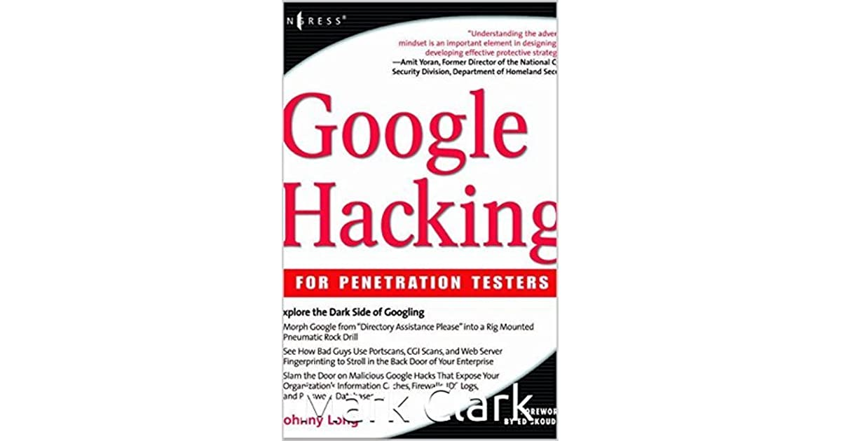 Speaking, google hacking fro penetration testers excellent