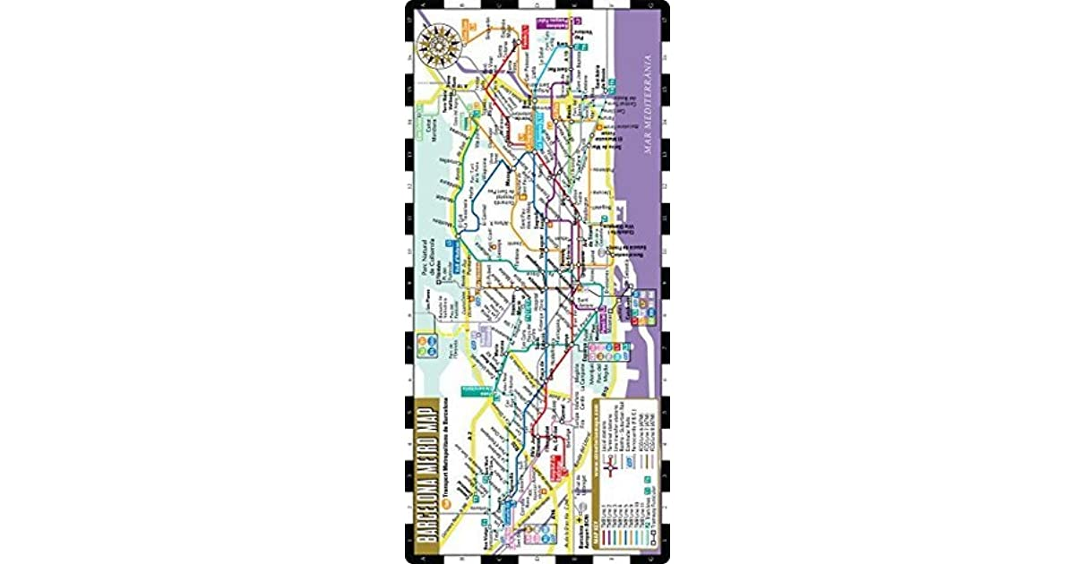 Barcelona Subway Map.Streetwise Barcelona Metro Map Laminated Metro Map Of Barcelona