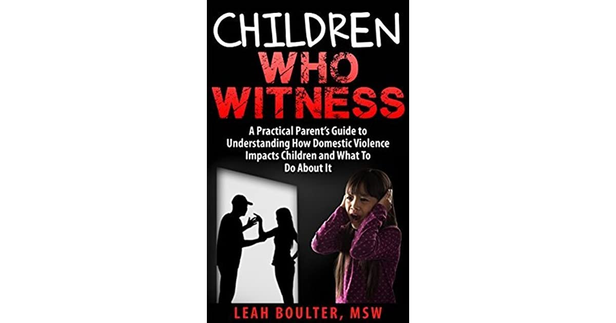 how to help children who witness domestic violence