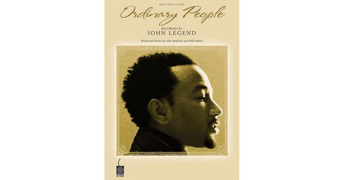 John Legend Ordinary People Pvg Sheet Music By John J Stephens