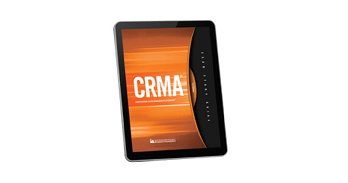 CRMA® Exam Study Guide by Francis Nicholson CIA and CRMA