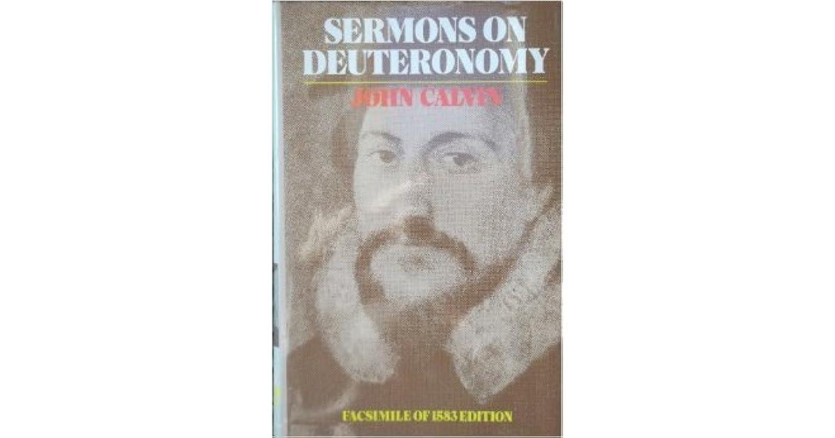 Sermons On Deuteronomy By John Calvin