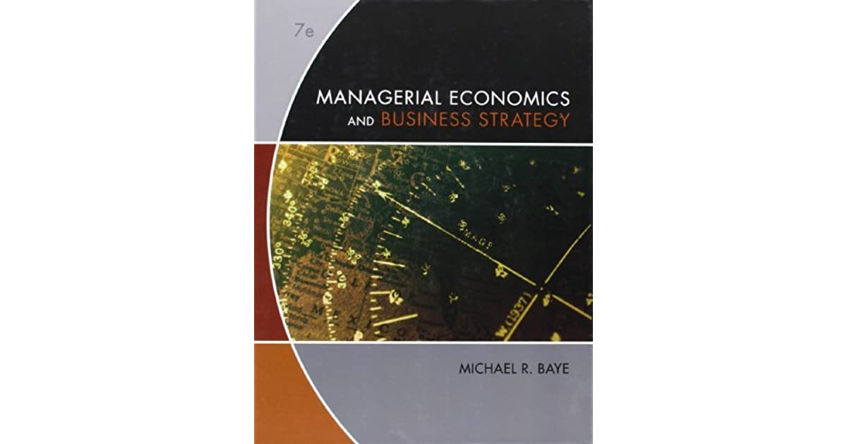 Managerial Economics & Business Strategy 8th Edition Pdf