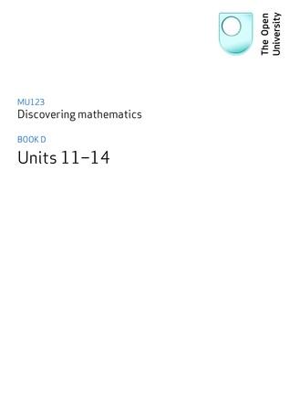 MU123 Discovering Mathematics Book D by Open University