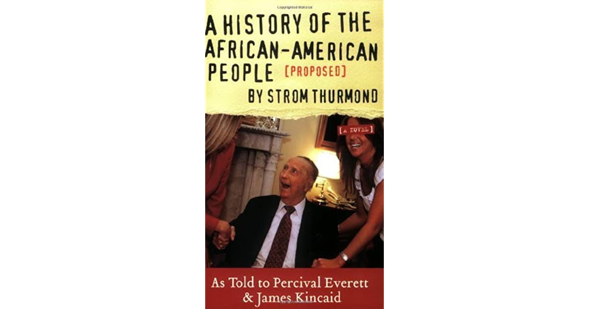 A History Of The African American People Proposed By Strom