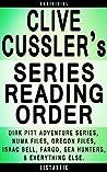 Clive Cussler Series Order: Dirk Pitt Adventure, NUMA Files, The Oregon Files