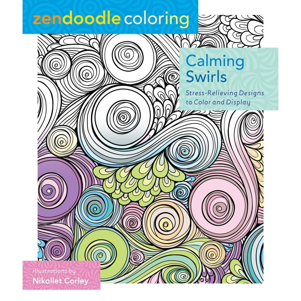 Zendoodle coloring enchanting gardens - Zendoodle Coloring Calming Swirls Stress Relieving Designs To Color And Display By Nikolett Corley