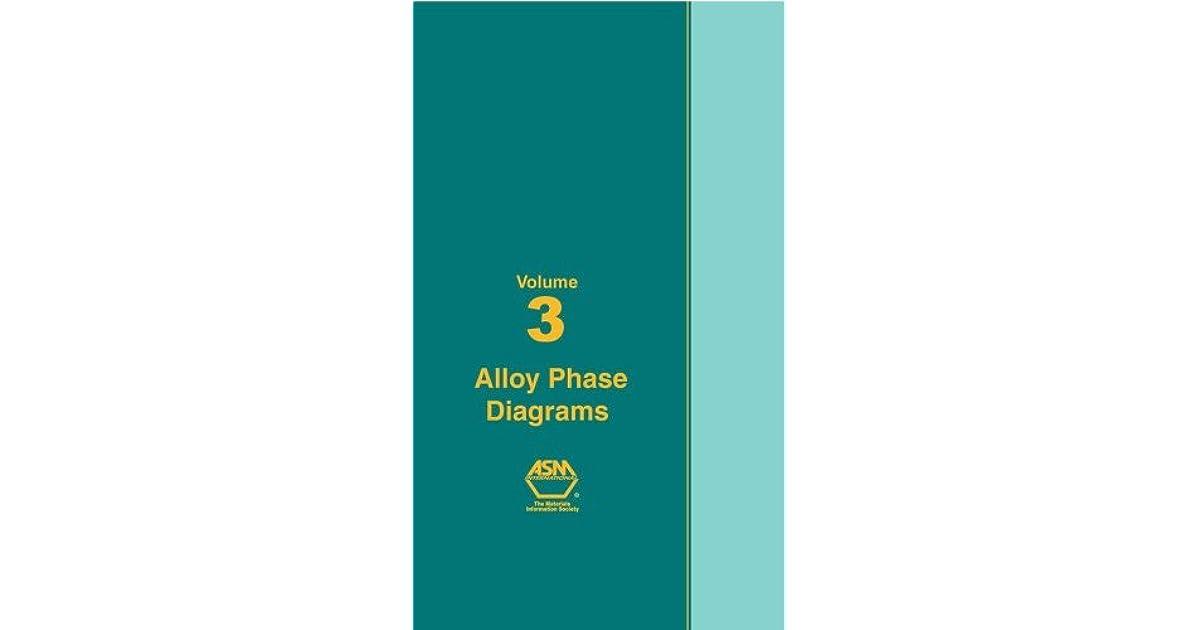Asm Handbook Volume 03 Alloy Phase Diagrams By Asm International