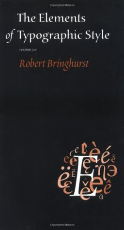 Cover for The Elements of Typographic Style, by Robert Bringhurst