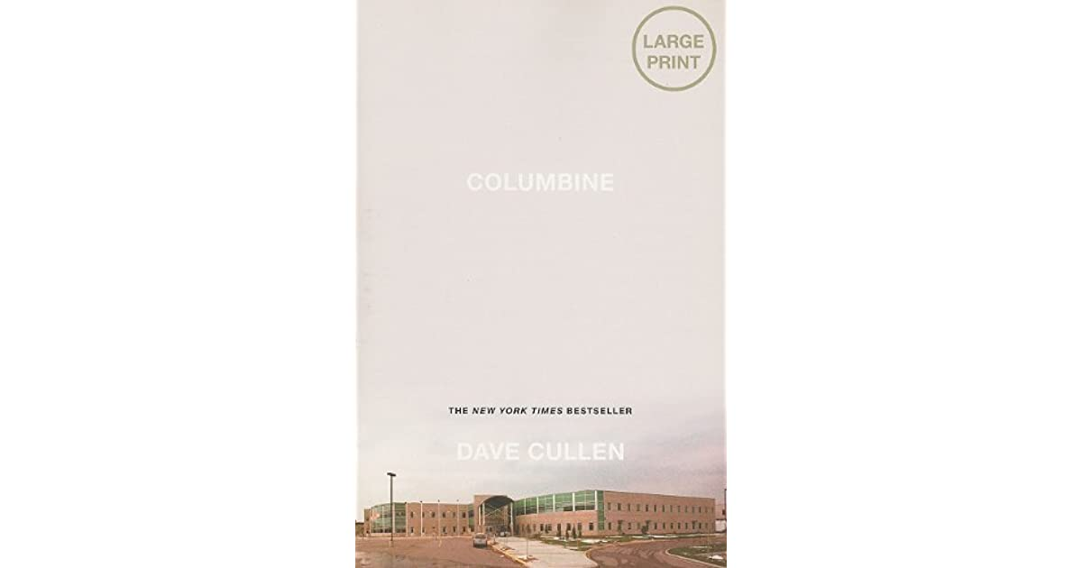 columbine dave cullen Dave cullen nailed columbine and those boys it really gets inside their minds and will give you the willies enjoy published 1 day ago louis foster.