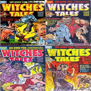 Witches Tales. Issues 13, 14, 15 and 16. Weird yarns of unseen terror. The torture jar, transformation, Revenge of a witch and more. We dare you to read these eerie tales of Supernatural horror.
