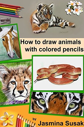 How To Draw Animals With Colored Pencils - Learn To Draw Realistic Animals