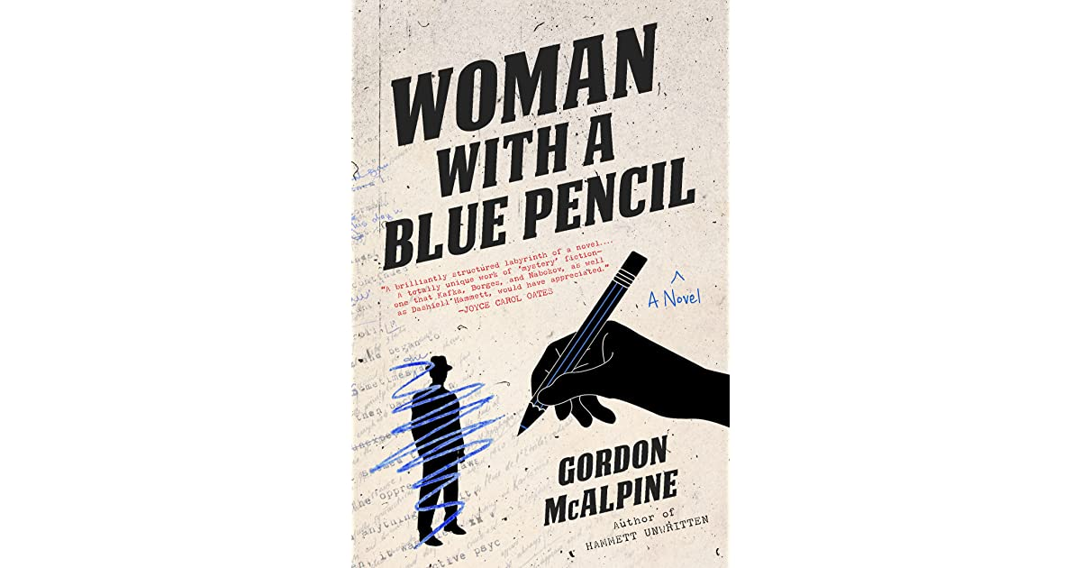 Woman with a Blue Pencil by Gordon McAlpine