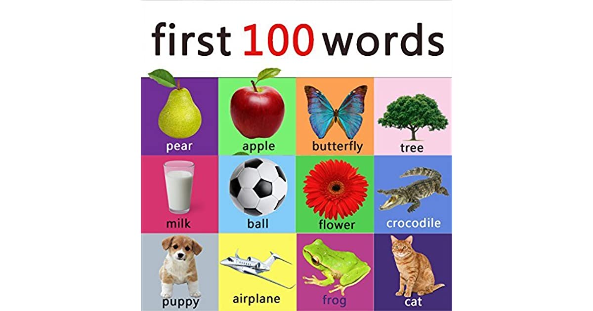 First 100 words - learning book for kids, toddlers and