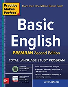 Practice Makes Perfect Basic English, Second Edition: (Beginner) 250 Exercises + Flashcard App + 90-minute Audio