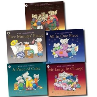 The Large Family 5 Children books Set Collection (A Quiet Night In, A Piece of Cake, All In One Piece, Mr Large In Charge, Five Minutes' Peace)