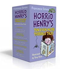 Horrid Henry's Ten Even More Terrible Tales 10 book set RRP £49.90 - Henry's: 3 joke books (mighty, jolly & joke), Haunted House & Christmas Cracker; Henry: Robs the Bank, Gets Rich Quick and the Abominable Snowman & Mummy's Curse: & Horrid Henry
