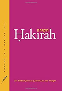 Hakirah Volume 18: The Flatbush Journal of Jewish Law and - Download