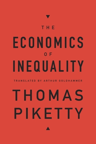 Cover for The Economics of Inequality, by Thomas Piketty