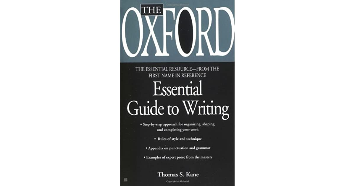 The Oxford Essential Guide To Writing Essential Resource Library
