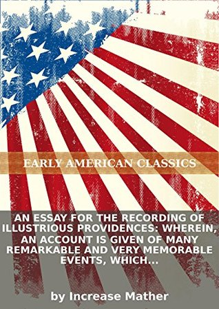 an essay for the recording of illustrious providences