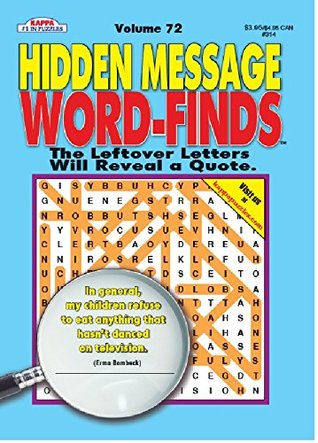 Hidden Message Word-Finds Puzzle Book - Volume 72 by Kappa