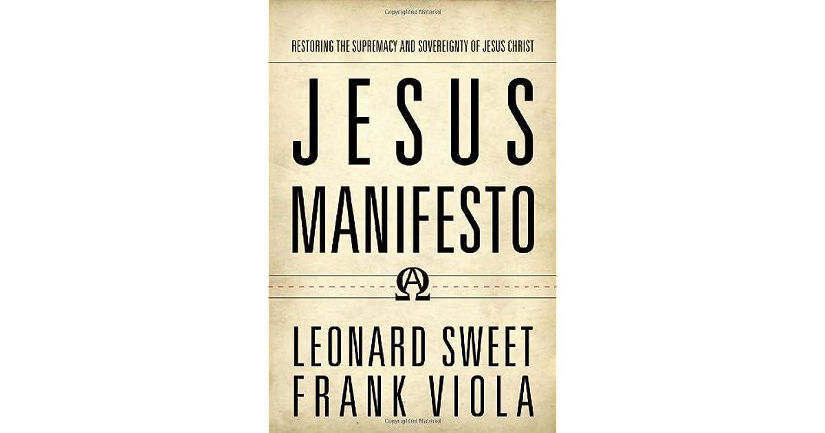 Jesus manifesto by leonard sweet fandeluxe Images