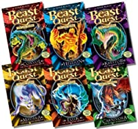 Beast Quest Series 7 Collection - 6 Books RRP £29.94 (37. Convol the Cold-Blooded Brute; 38. Hellion the Fiery Foe; 39. Krestor the Crushing Terror; 40. Madara the Midnight Warrior; 41. Ellik the Lightning Horror; 42. Carnivora the Winged Scavenger)
