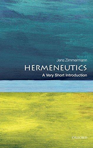 Hermeneutics A Very Short Introduction