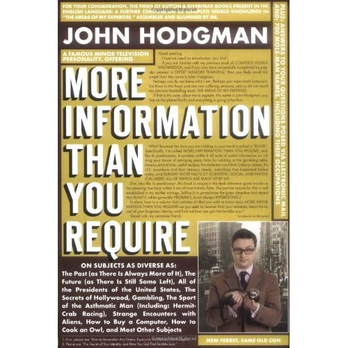 More information than you require by john hodgman fandeluxe Gallery