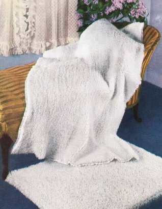 Snuggles Afghan & Rug Vintage Crochet Pattern EBook Download