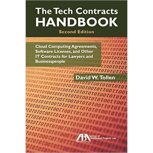 The Tech Contracts Handbook Cloud Computing Agreements Software