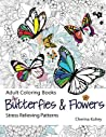 Butterflies & Flowers Adult Coloring Book: Stress Relieving Patterns: Volume 7