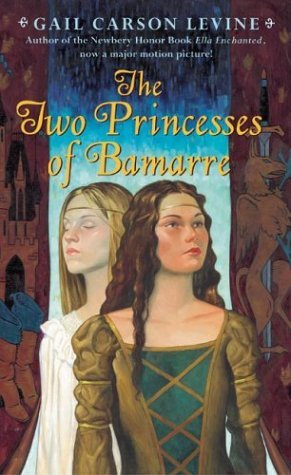"""Book cover of """"The Two Princesses of Bamarre"""" by Gail Carson Levine"""