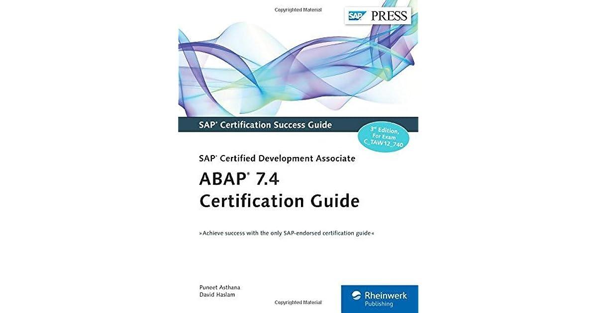 Abap 74 Certification Guidesap Certified Development Associate By