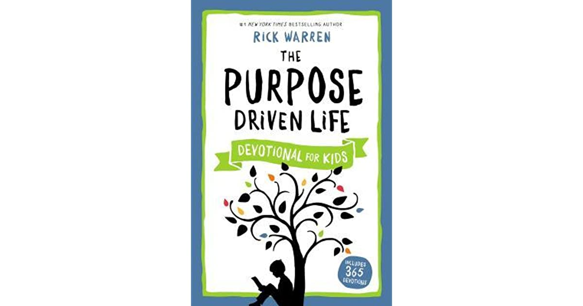 purpose driven life Rick warren's the purpose driven life is a runaway bestseller, having already sold over ten million copies, making it one of the best-selling christian books of all time.