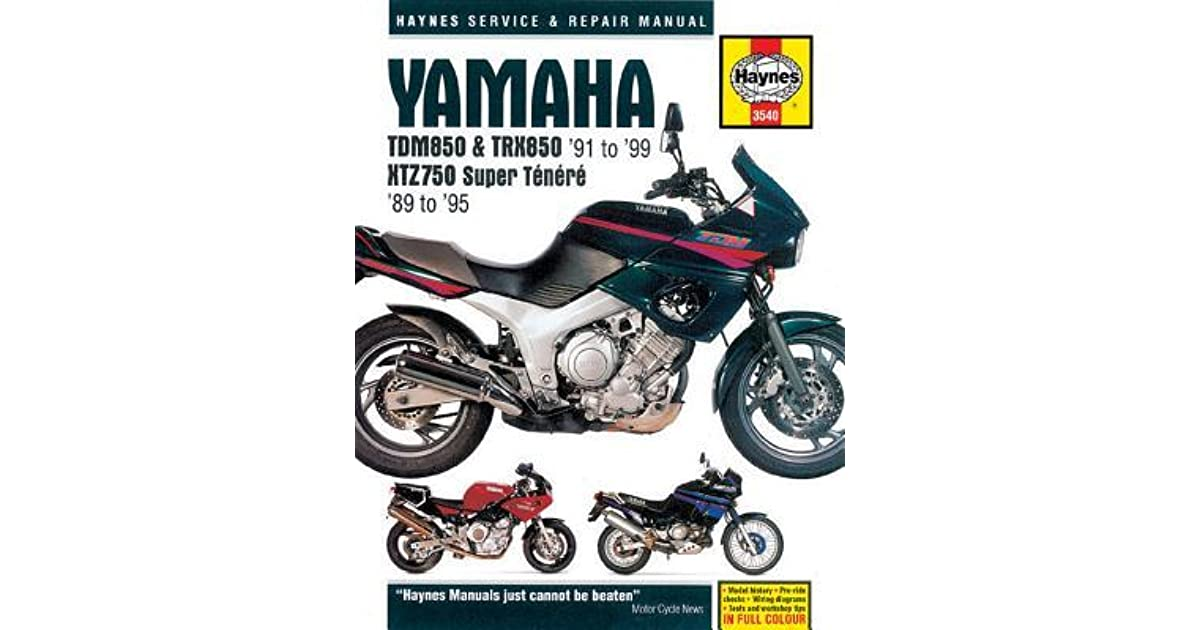 yamaha trx 850 wiring diagram yamaha tdm850   trx850  91 to  99 and xtz750 super tenere  89 to  yamaha tdm850   trx850  91 to  99 and