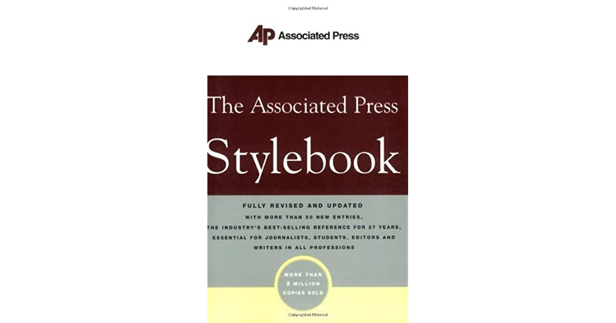 d2f1fdd902 The Associated Press Stylebook and Briefing on Media Law by Associated Press