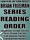 Brian Freeman: Series Reading Order: A Read to Live, Live to Read Checklist [Jonathan Stride Series, Tess Drake Series, Cab Bolton Series]