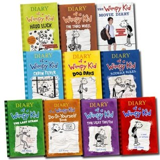 Jeff Kinney 10 Books Set Diary Of A Wimpy Kid Collection Hard Luck Movie Di By Jeff Kinney