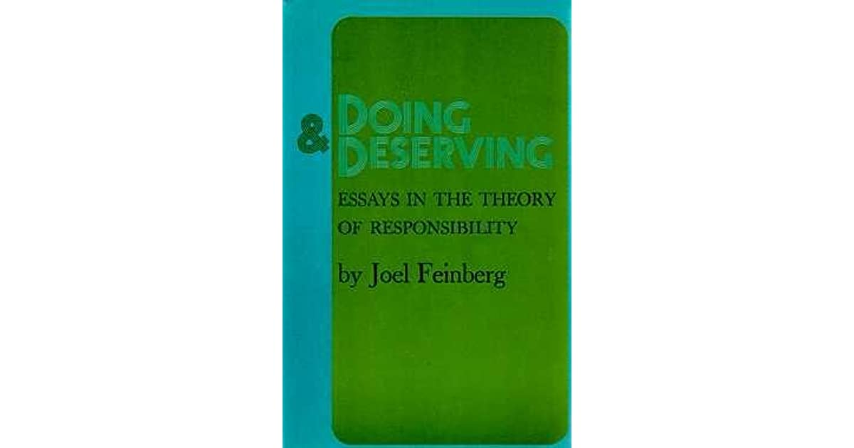 Doing and Deserving: Essays in the Theory of Responsibility