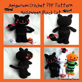 Halloween Black Cat Pattern Crochet Halloween Pattern | Etsy | 318x318