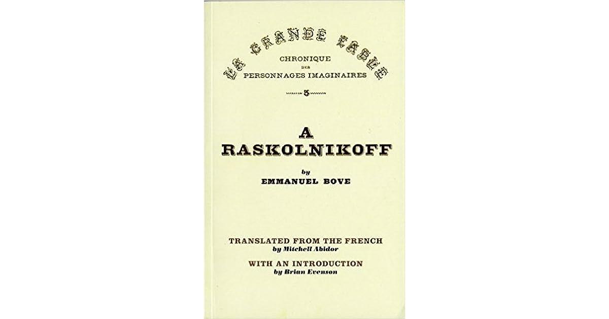 A Raskolnikoff By Emmanuel Bove