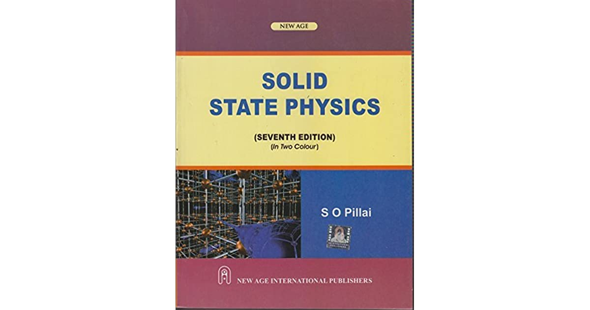 Solid state physics by so pillai fandeluxe Images