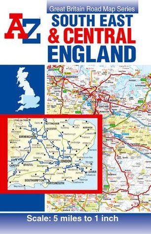 A Z Map Of England.South East Central England Road Map By Geographers A Z