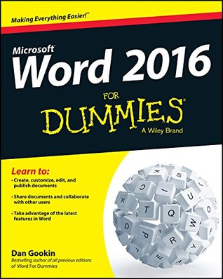 Word 2016 For Dummies (For Dummies (Computer/Tech))