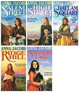 Anna Jacobs: Gibson Family Saga - 5 books (Salem Street / High Street / Ridge Lane / Hallam Square / Spinners Lake rrp £24.95)