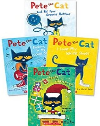Pete The Cat Saves Christmas.Pete The Cat Paperback Book Set Includes 4 Books I Love