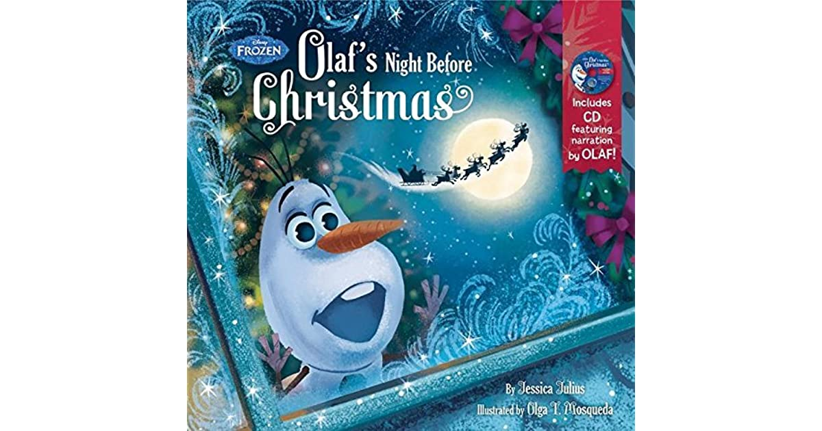 Frozen Olaf's Night Before Christmas Book & CD by Walt