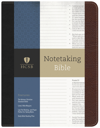 HCSB Notetaking Bible, Black/Brown Bonded Leather by Anonymous